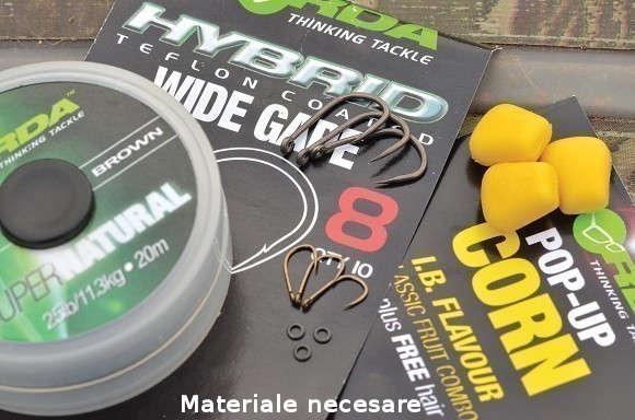 Materiale necesare pentru constructia monturii maggot rig